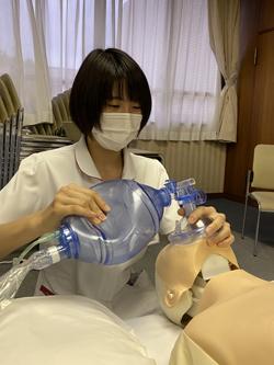 救急対応シミュレーションの様子