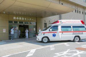 救急車到着風景