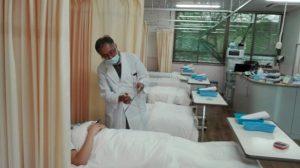 外来化学療法の様子
